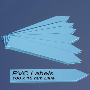 Labels (BLUE pointed Pvc labels 100 x 16 mm)