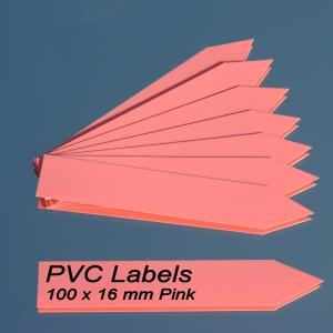 Labels (PINK pointed Pvc labels 100 x 16 mm)