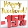Shopping cart weekend 15% discount