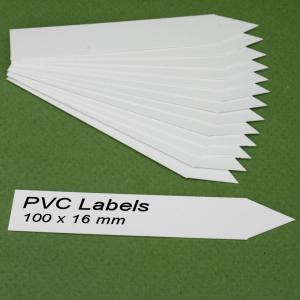 Cartellini BIANCHI a punta per piante 100 x 16 mm