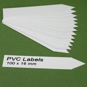 Labels (WHITE pointed Pvc labels 100 x 16 mm)
