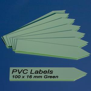 Labels (GREEN pointed Pvc labels 100 x 16 mm)