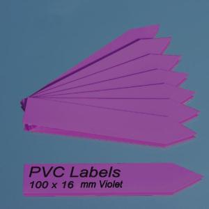 Cartellini VIOLA a punta per piante 100 x 16 mm