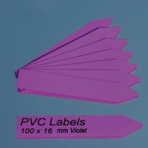 Labels (VIOLET pointed Pvc labels 100 x 16 mm)